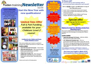 Eden Training Newsletter Jan15